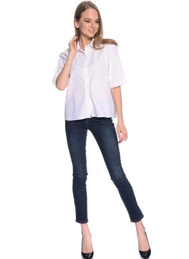 Fabrika Kısa Kollu Gömlek Beyaz
